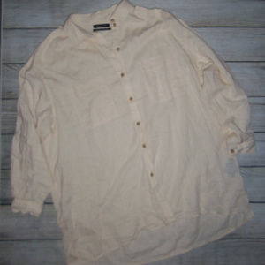 Urban Outfitters Linen Blend Button Up Top M